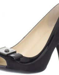Calvin-Klein-Addie-Womens-Black-Open-Toe-Hair-Fur-Kitten-Heels-Shoes-UK-5.5-0
