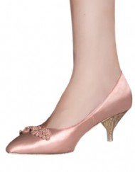 DZLW-Womens-Elegant-Satin-Bridal-Wedding-Kitten-Heel-Pump-Shoes-with-Unique-Chinese-Knot-Champagne-4.5UK-0