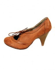 Evie-New-Ex-Ladies-Mary-Jane-Shoes-Color-Vintage-Brown-Size-6-0