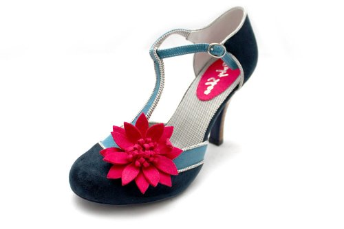 F10598Nvy-Ruby-Shoo-Candice-Womens-High-Heel-Heeled-T-Bar-Court-Shoes-Size-Uk-5-0