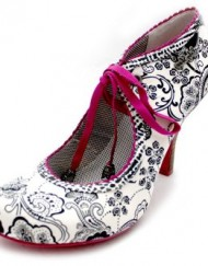 F10600A-Ruby-Shoo-Gwyneth-Paisley-Womens-Lace-Up-Ankle-Shoes-High-Heels-Size-Uk-3-0