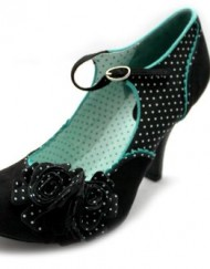 F10601A-Ruby-Shoo-Alice-Flower-Ankle-Strap-Polka-Dot-Court-Heels-Shoes-Size-Uk-6-0