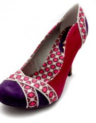 F10602P-Ruby-Shoo-Potia-Womens-Faux-Suede-Mid-High-Heels-Court-Shoes-Size-Uk-6-0