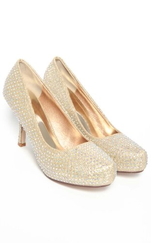 Gold Kitten Heel Shoes Uk