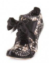 Irregular-Choice-Abigails-Party-Black-Cream-Boots-SIZE-4-0