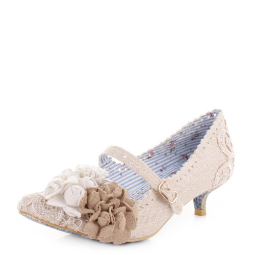 Irregular-Choice-Daisy-Dayz-Off-White-Court-Shoes-SIZE-7.5-EU41-US10-0