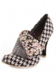 Irregular-Choice-Flick-Flack-Black-Cream-Shoes-SIZE-5-0