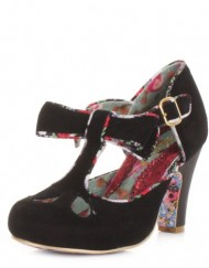 Irregular-Choice-Kissing-Kate-Black-Suede-Shoes-SIZE-6.5-EU40-US9-0