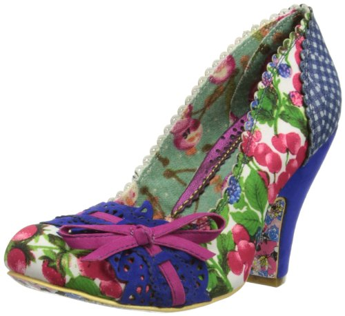 Irregular Choice Womens Make My Day Court Shoes 4135-02 Blue Floral ... 6bb1c77931