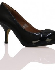 L3C-New-Womens-Black-Patent-Low-Kitten-Mid-Heel-Office-Comfortable-Casual-Smart-Work-Pump-Ladies-Court-Shoes-Size-3-0