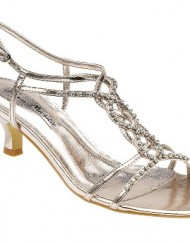 Ladies-L3879-Champagne-Diamante-Trim-Kitten-Heel-Sandal-UK-4-0
