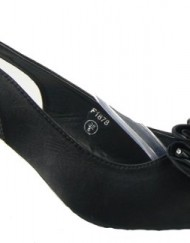Ladies-Multi-Soft-Satin-Diamante-Slingbacks-Low-Heels-Bridesmaids-Wedding-Shoes-Black-7-0