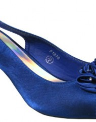 Ladies-Multi-Soft-Satin-Diamante-Slingbacks-Low-Heels-Bridesmaids-Wedding-Shoes-Blue-5-0