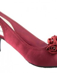 Ladies-Multi-Soft-Satin-Diamante-Slingbacks-Low-Heels-Bridesmaids-Wedding-Shoes-Red-5-0