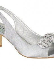 Ladies-Stunning-Low-Heel-Diamanté-Flower-Petal-Peep-Toe-Sling-Back-Evening-Wedding-Shoes-5-Silver-0
