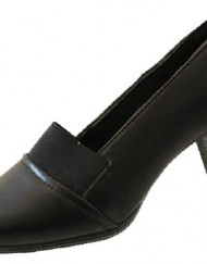 Ladies-Womens-Low-Medium-Heels-Casual-Work-Office-Slip-On-Black-Court-Shoes-Size-UK-7-0