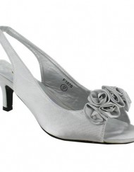 New-Ladies-Kitten-Heel-Bridal-Evening-Sandals-Womens-Shoes-Size-UK-3-4-5-6-7-8-Silver-UK-5-0