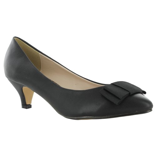 innovative design low price sale new york New Ladies Kitten Low Heel Office Work Pointed Toe Court Shoes UK ...