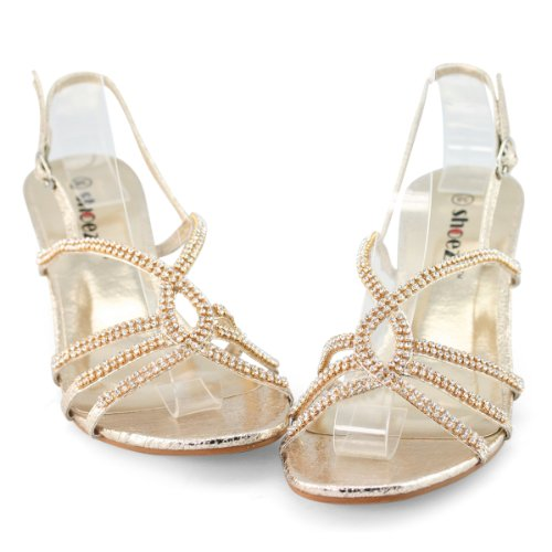 SHOEZY-Womens-Dresses-Metallic-Rhinestones-Strappy-Kitten-Heels-Sandals-1