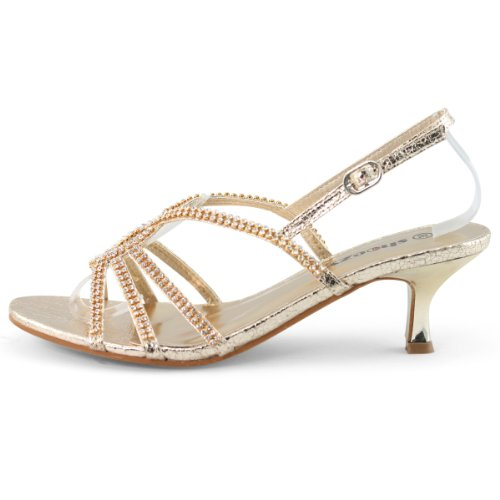 SHOEZY-Womens-Dresses-Metallic-Rhinestones-Strappy-Kitten-Heels-Sandals-2