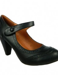 Salt-Pepper-Manny-Womens-Leather-Lined-Medium-Heel-Mary-Jane-Shoes-Black-Size-6-UK-0