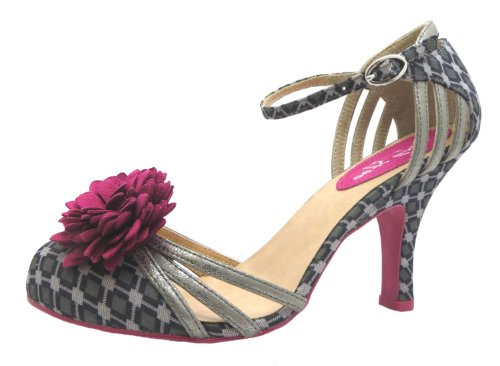 Size-4-Ruby-Shoo-Womens-Kate-Textile-Strappy-Heels-0