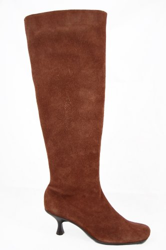 Via-Uno-ladies-long-suede-boot-with-kitten-heel.-Available-in-blue-or-brown-or-black-0