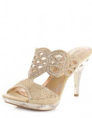 Womens-Cut-Out-Diamante-Mules-Party-Wedding-Shoes-SIZE-6-0