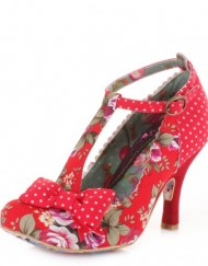 Womens-Irregular-Choice-Bloxy-Red-Floral-Shoes-SIZE-4-0