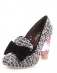 Womens-Irregular-Choice-Oz-Black-Multi-Tweed-Shoes-SIZE-6-0