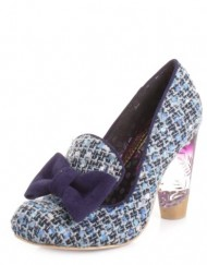 Womens-Irregular-Choice-Oz-Blue-Tweed-Court-Shoes-SIZE-5-0