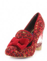 Womens-Irregular-Choice-Oz-Red-Tweed-Ladies-Shoes-SIZE-5-0