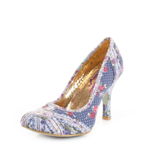 Womens-Irregular-Choice-Patty-Navy-Floral-shoes-SIZE-5-0
