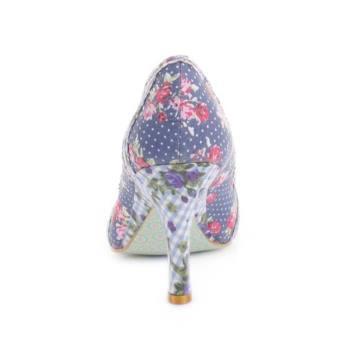 Womens-Irregular-Choice-Patty-Navy-Floral-shoes-SIZE-5-2