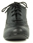 Womens-Round-Toe-Lace-Up-Brogue-Work-Office-Shoe-Ladies-Low-to-Medium-Heel-Court-Black-Size-7-UK-1