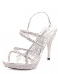Womens-Strappy-Silver-Diamante-Prom-Party-Shoes-SIZE-5-0