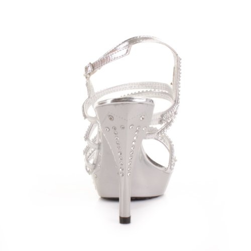 a2cd8751783f5 Womens Strappy Silver Diamante Prom Party Shoes SIZE 5 | Elegant ...