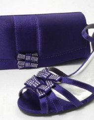 Womens-Wide-Fitting-Kitten-Heel-Shoes-Sandals-Matching-Handbag-PURPLE-SIZE-5-0