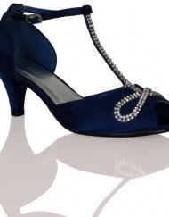 Y2F-Womens-Ladies-Low-Kitten-Heel-Wedding-Bridal-Diamante-Strap-Buckle-Shoe-BLUE-SHOES-Size-7-UK-0