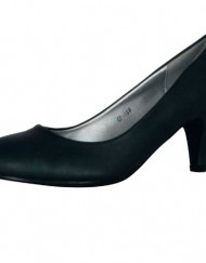 ByPublicDemand-L1E-Womens-Mid-Heel-Court-Shoes-Navy-Blue-Matte-Size-5-UK-0