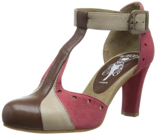 Fly London Women's Harg T-Bar P143028001 Brown 4 UK, 37 EU ...