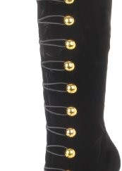 Funtasma-4-12-Heel-34-Hidden-PF-Knee-Boot-W-Gold-Buttons-Color-Blk-Velvet-Size-8-0