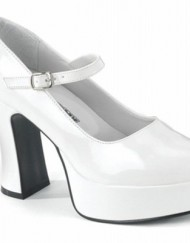 Heels-Club-St-Trinians-School-Girl-Fancy-Dress-Shoes-WIDE-FIT-White-8-0