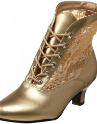 Heels-Club-Wild-West-Victorian-Boots-BNIB-Fancy-Dress-Gold-5-0