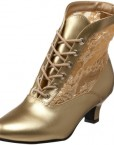 Heels-Club-Wild-West-Victorian-Boots-BNIB-Fancy-Dress-Gold-6-0