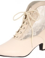 Heels-Club-Wild-West-Victorian-Boots-BNIB-Fancy-Dress-Ivory-5-0