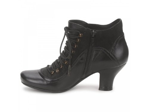 Hush-Puppies-VIVIANNA-Ladies-Lace-Up-Side-Zip-Boots-Black-UK-4-2