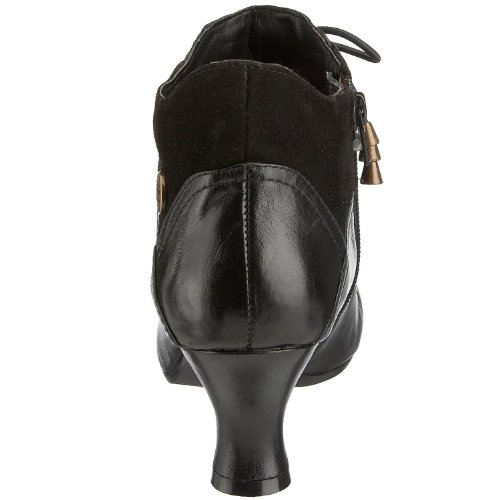 Hush-Puppies-Womens-Vivianna-Black-Leather-Mid-Heel-Ankle-Boots-UK-3-2