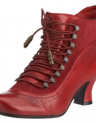 Hush-Puppies-Womens-Vivianna-Red-Leather-Mid-Heel-Ankle-Boots-UK-3-0