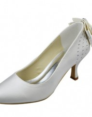 Minitoo-GYAYL1002T-Womens-Kitten-Heel-Closed-Toe-Ivory-Satin-Evening-Party-Bridal-Wedding-Sparkle-Shoes-Pumps-8-M-UK-0